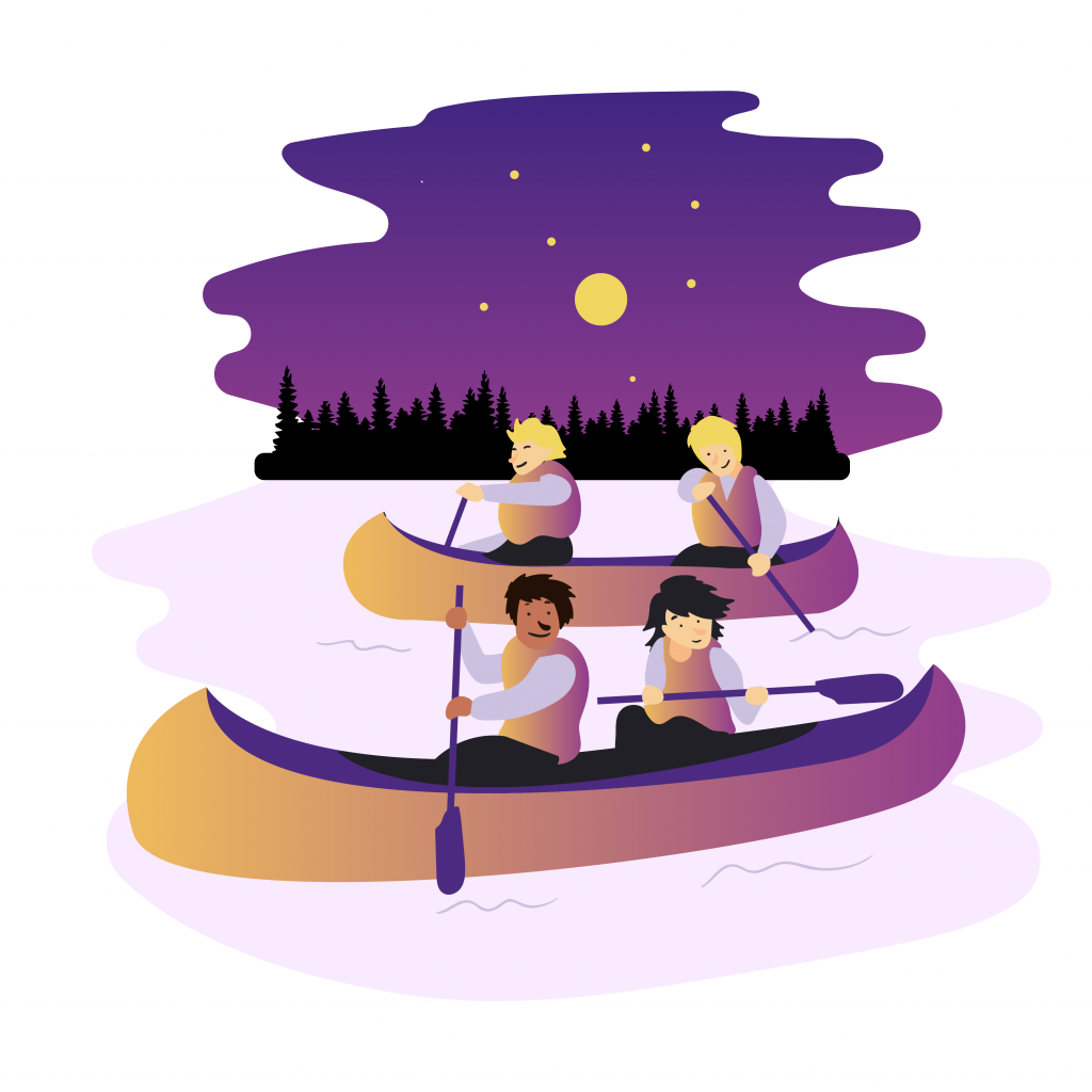 Speidere i kano