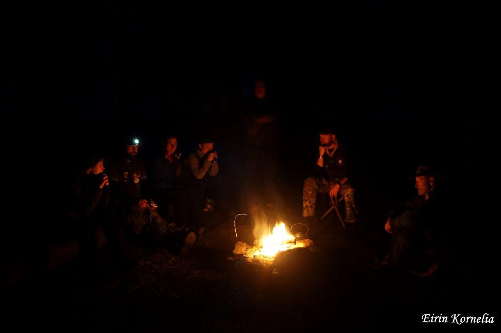 Ledere rundt bålet