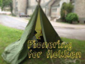 Pionering telt med speidere