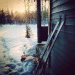 ski mot hytte