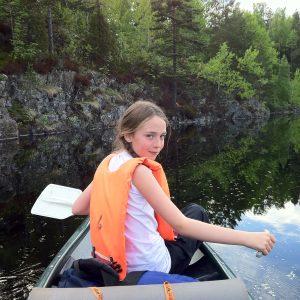 Bøler på kanotur