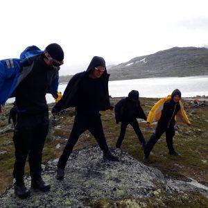7. Oslo speidere står mot vinden