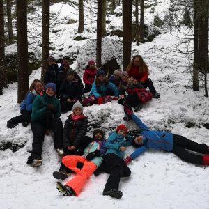7. Oslo speider koser seg i snøen