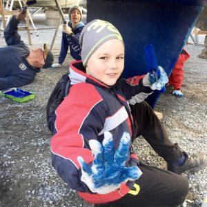 Bestum sjøspeiderne baler båten