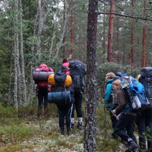 Speidere på skogtur