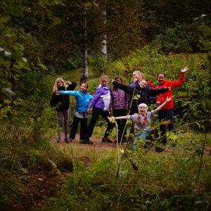 Speidere i skogen