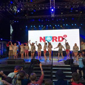 Speidere på scenen i Australia