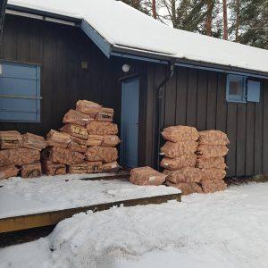 Vinteren og ved har kommer til Blåhaug